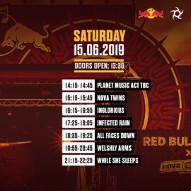 Line Up Red Bull Stage Saturday NOVA ROCK 2019