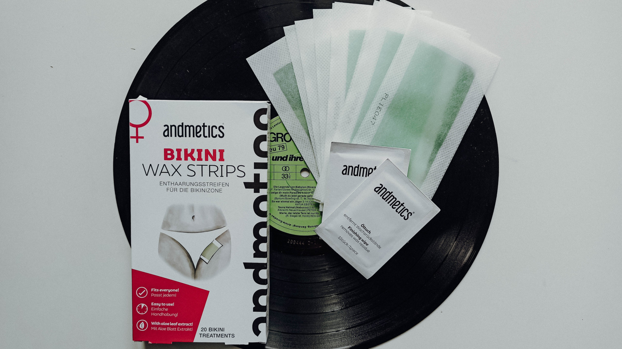 andmetics Bikini Wax Strips Header