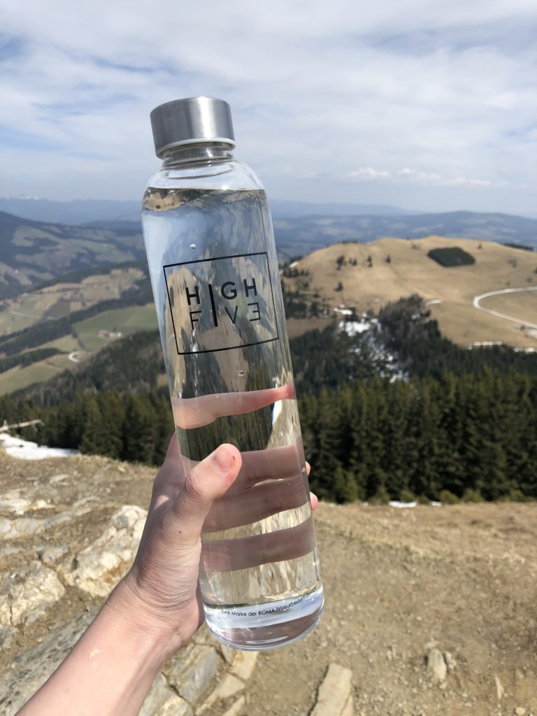 High Five Glasflasche1